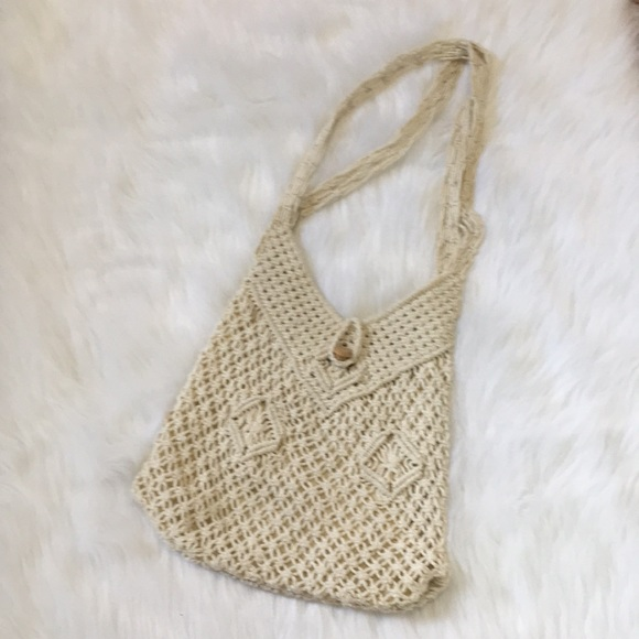 Vintage Handcrafted Woven Beach Bag
